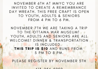 Remembrance Day Craft & War Museum Trip